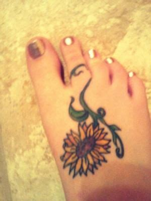 sunflower tattoo designs on foot 18 best images about sunflower tattoos on