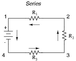 resistor connected in a simple series circuit to an operating ac generator electric circuit series and parallel circuits