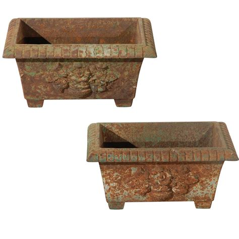 Cast Iron Planter by Pair Of Cast Iron Rectangular Planter At 1stdibs