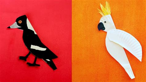 paper plate seagull craft craft project paper plate birds bird paper