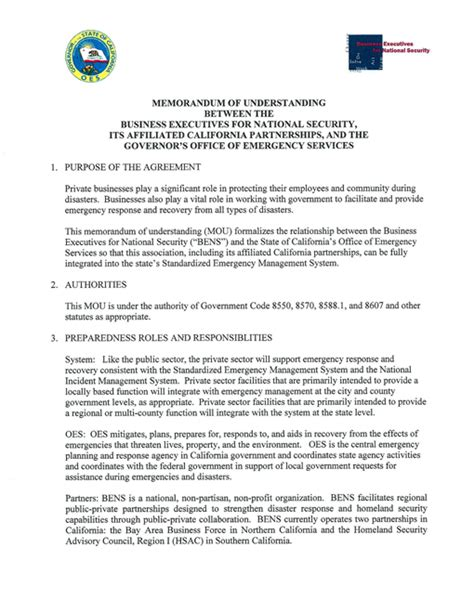 memorandum of understanding business partnership template memorandum of understanding between the business
