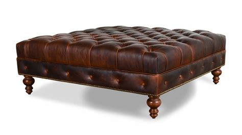 cococohome chesterfield square leather ottoman made in usa
