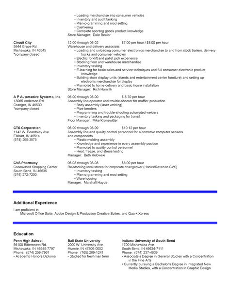 resume sle for factory worker 100 100 sle resume for production mailroom