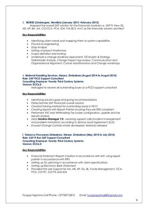 sap fico resume sap fico 3 years experience resumes resume ideas
