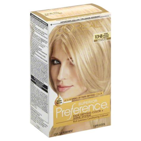 superior preference fade resistant conditioning colorant level 3 permanent l oreal preference superior 10nb ultimate