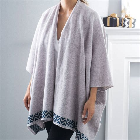 Blongket Original 7 grey knitted lambswool blanket cardigan by gabrielle vary