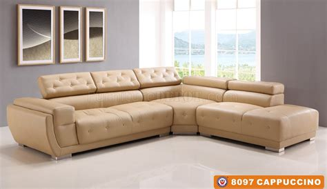 cappuccino leather sofa 8097 sectional sofa cappuccino bonded leather by american