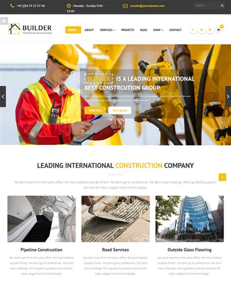 drupal themes builder 10 of the best drupal themes for contractors