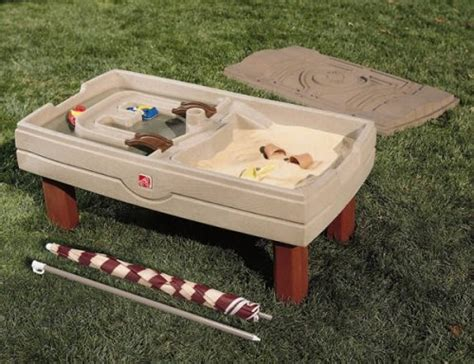 step 2 sandbox with bench step 2 step2 naturally playful sand and water activity