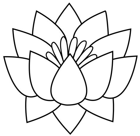 Lotus Black And White Outline by Lotus Line Arts And Crafts Lotus Stained Glass Flowers And Glass Flowers