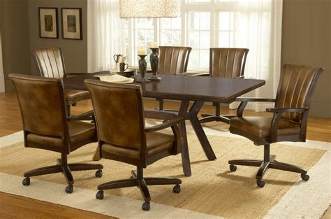 dining room sets with chairs on casters ideas for dining chairs with casters 17579