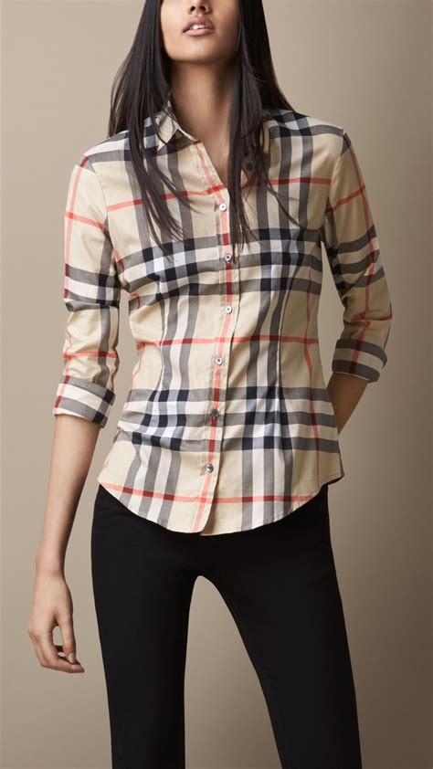 burberry exploded check shirt in multicolor new classic