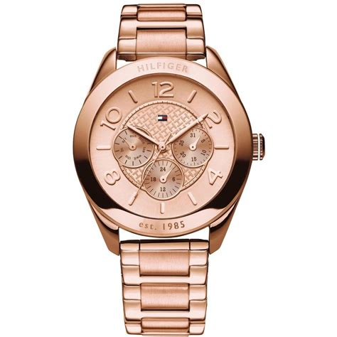 Tommy Hilfiger 1781204 Ladies Rose Gold Tone Day Date Display Watch