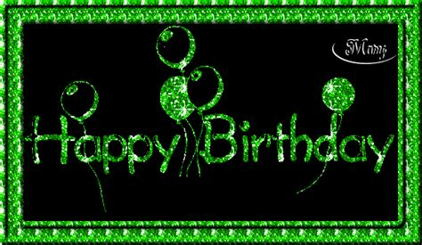 happy green color happy birthday graphics and comments