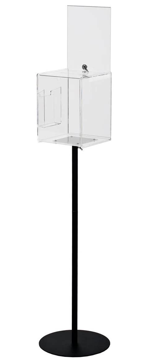 clear acrylic floor l clear floor standing ballot box custom header with steel