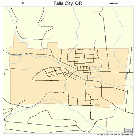 map of oregon falls falls city oregon map 4124550