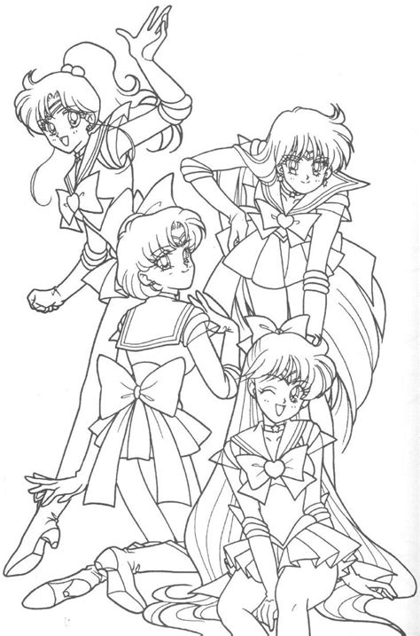 sailor moon coloring book coloring book for and adults 60 illustrations best coloring books volume 31 books sailor jupiter sailor mercury sailor mars and sailor