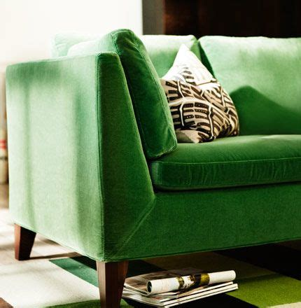 green stockholm sofa stockholm three seat sofa in sandbacka green velvet on