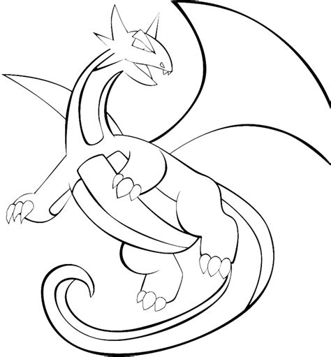 pokemon coloring pages flygon pokemon salamence coloring pages