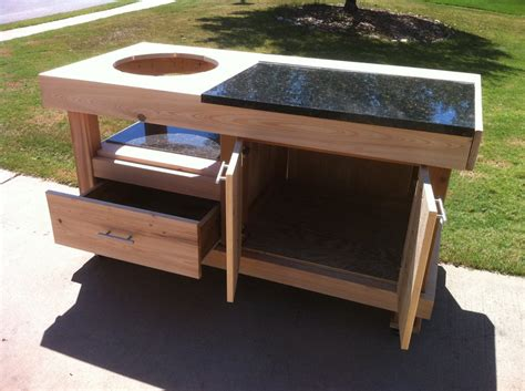 building table for big green egg woodideas