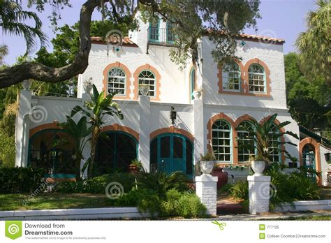 Colonial Style Home Plans Mediterranean House Royalty Free Stock Photo Image 777125
