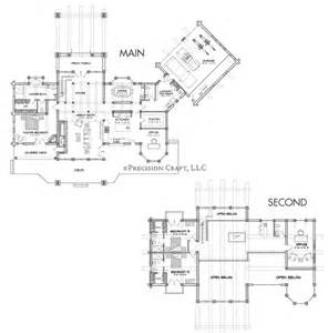 big floor plans big sky luxury log home plan