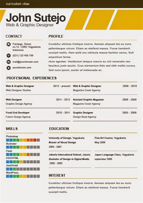Plantilla De Curriculum Occ 81 Best Images About Resume Templates Plantillas On Illustrators Free Creative
