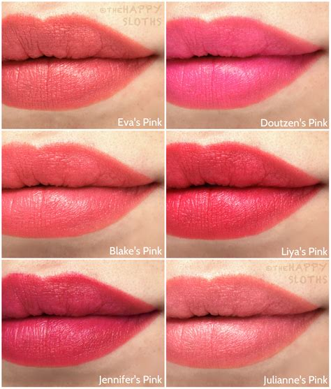 Lipstik Loreal Collection l oreal collection exclusive pinks lipstick swatches