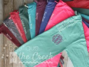 Comfort Colors Pocket T Sale Monogram Long Sleeve Shirt Comfort Colors Unisex