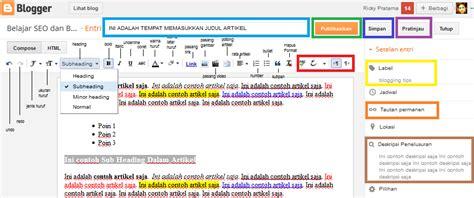 Cara Membuat Edit Artikel Dengan Php | cara membuat artikel di blogger