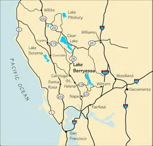 where is winters california on map map and directions to lake berryessa ca