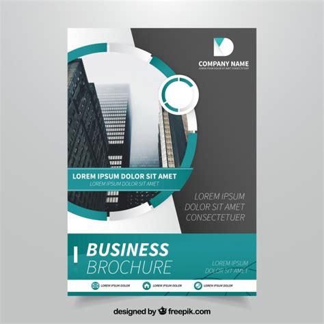 flyer design freepik template of business flyer with green elements vector