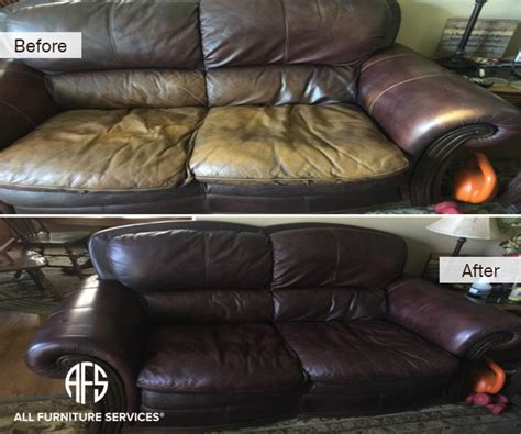 Gallery Before After Pictures All Furniture Services 174 Change Color Of Leather Sofa