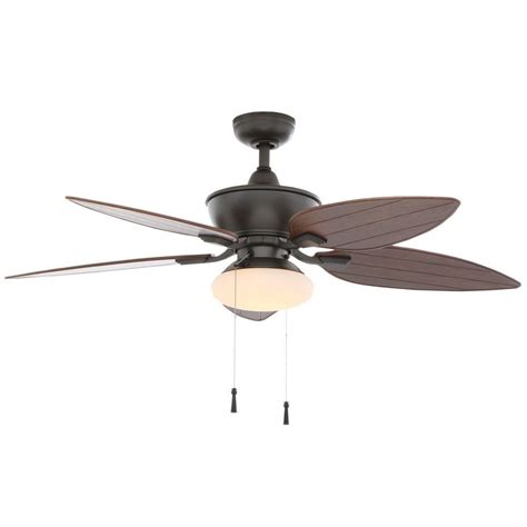 Home Depot Ceiling Fan Light Kits Hton Bay Edgewater Ii 52 In Indoor Outdoor Iron Ceiling Fan With Light Kit Yg115 Ni