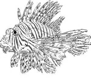 Lionfish Coloring Page free a lionfish coloring pages