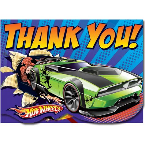 printable birthday cards hot wheels hot wheels thank you cards party savers party invitations