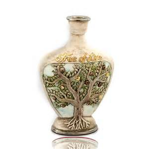 ceramic vase handmade tree of pottery
