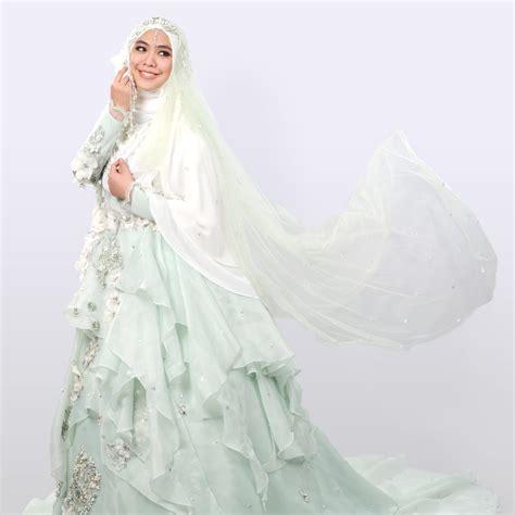 tutorial jilbab syar i untuk nikah 7 desain baju pengantin syar i modern ala desainer wanita