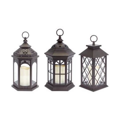 pack of 3 dark brown battery operated outdoor led candle
