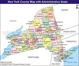 New York Counties Map by New York County Map