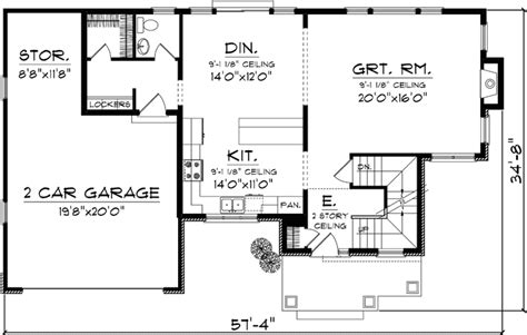 house plans 2000 sq ft 2 story traditional style house plans 2046 square foot home 2