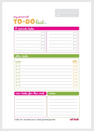 to do template free printable free personal to do list template