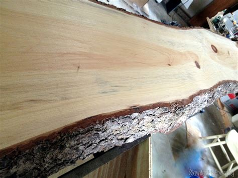 Wood Slab Bar Breakfast Bar Counter Live Edge Lacquer Reality Daydream