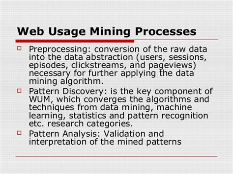 pattern discovery in web usage mining web usage pattern