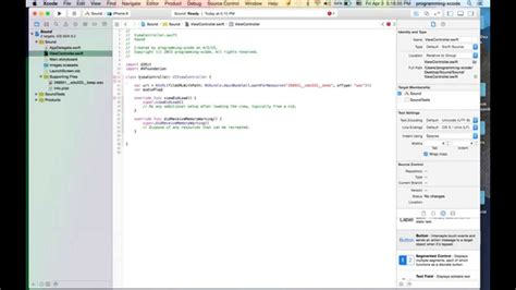 tutorial on xcode 6 ios programming swift 9 making sound tutorial in xcode 6