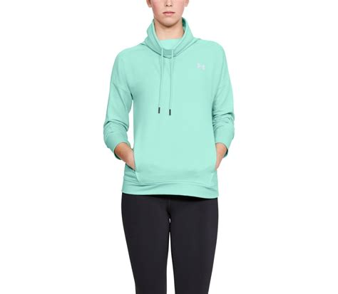 light blue armour hoodie armour featherweight fleece funnel s