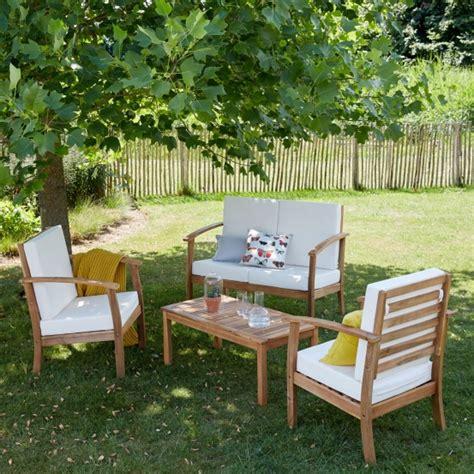 salon bas de jardin en bois salon bas de jardin en bois d acacia bois dessus bois dessous