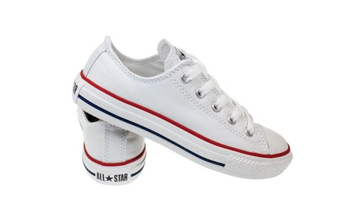 shoes for size 2 converse youth junior white canvas trainers sneakers