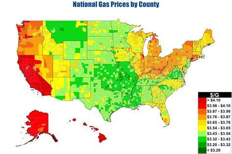 usa gas prices map usa national gas price heat map gasbuddy