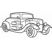 Classic Car Coloring Pages The Old And Muscle  Gianfredanet